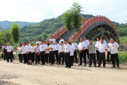 凤尾镇组织代表视察提升城乡人居环境工作