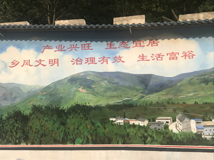 理想信念与创新发展----永胜村文化墙创意