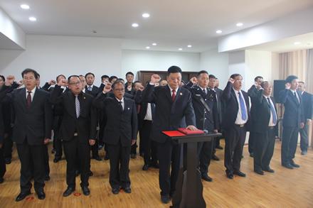 市人大常委会举行宪法宣誓仪式